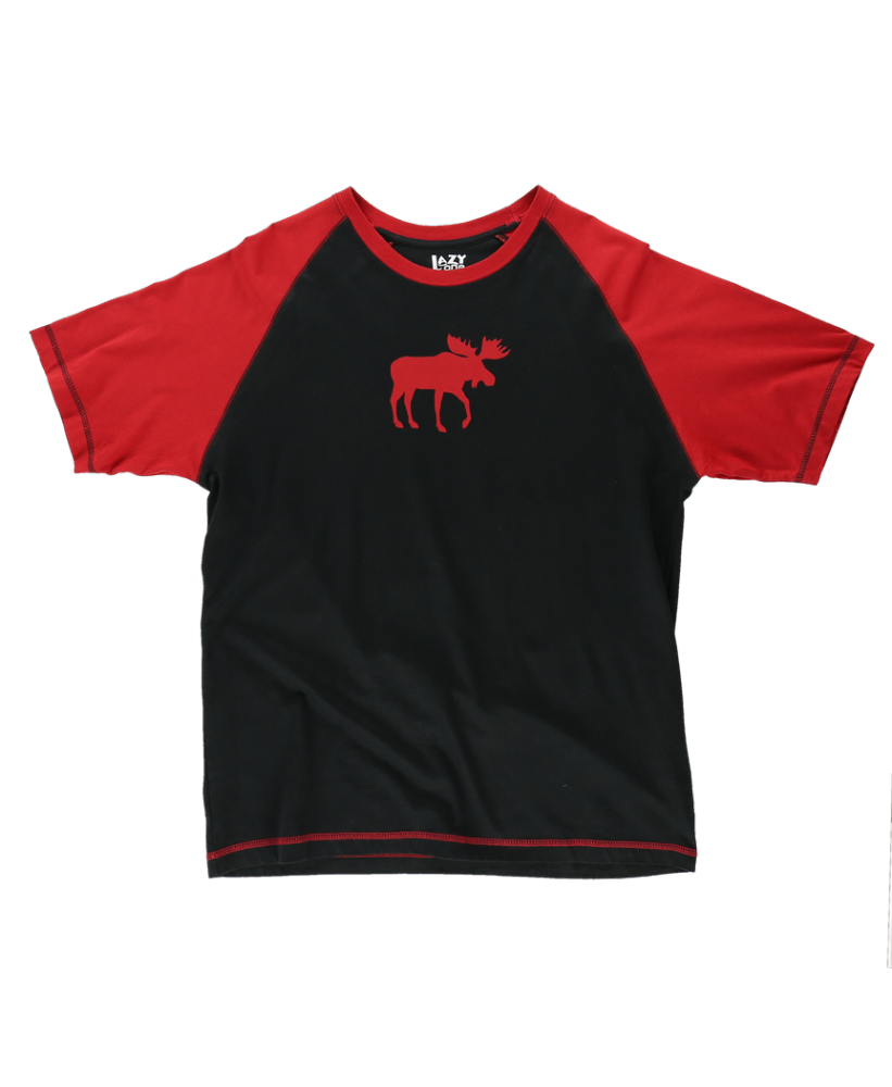 Men's Red Classic Moose PJ T-shirt - Lazy One®